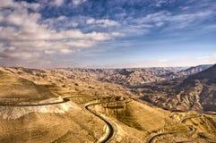 дорога королей Иордана Стоковые Изображения