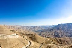 дорога королей Иордана Стоковые Изображения RF