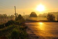 Дорога, который нужно рассветать Стоковая Фотография
