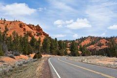 дорога красного цвета каньона Стоковые Изображения RF