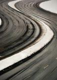 дорога кривого Стоковое Фото