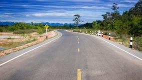 Дорога кривой Стоковые Фотографии RF