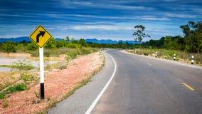 Дорога кривой Стоковое Фото