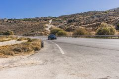 Дорога Крита Стоковое Изображение