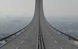 дорога крутая Стоковое Изображение