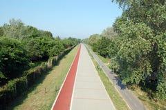 Дорога к бежать, идти и bicycling Стоковые Фотографии RF