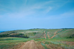 Дорога к берегу Стоковое Изображение