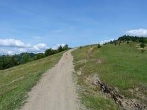 Дорога к верхней части горы Стоковое Изображение RF
