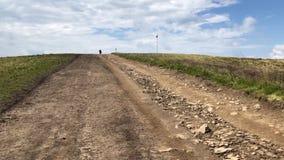 Дорога к верхней части горы видеоматериал