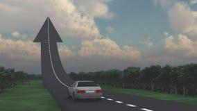 Дорога к верхней части иллюстрация штока