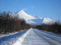 Дорога к вулкану стоковая фотография