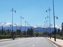 Дорога к горе атласа, Марокко Стоковые Изображения