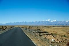 Дорога к горе Стоковое Изображение