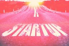 Дорога к запуску Выбранный фокус Стоковая Фотография RF
