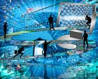 Дорога к интернету Стоковые Изображения