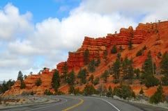 Дорога к каньону i Bryce стоковые фотографии rf
