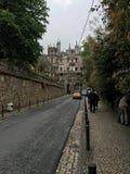 Дорога к королевскому дворцу в городе Sintra Стоковое Фото