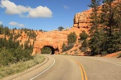 Дорога к красному тоннелю свода, Юте США Стоковое Фото