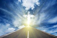 Дорога к накаляя cros Стоковые Фото