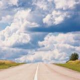 дорога к неопределенности Стоковые Изображения