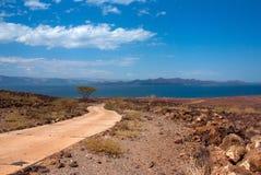 Дорога к озеру, Кении Стоковая Фотография