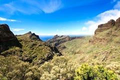 Дорога к острову Maska Испании Тенерифе Стоковое Фото