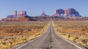 Дорога к долине памятника Стоковые Фото
