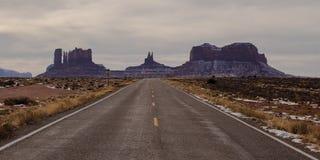 Дорога к долине памятника Стоковое Фото