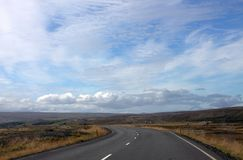 Дорога к долине эльфов в Исландии Стоковая Фотография