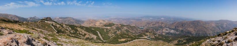 Дорога к панораме сьерра-невады Стоковое фото RF