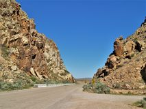 Дорога к петроглифам зазора Parowan Стоковая Фотография RF