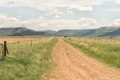 Дорога к приключениям Korannaberg, с Korannaberg в задней части Стоковая Фотография RF
