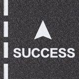 Дорога к принципиальной схеме успеха стоковая фотография