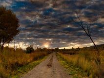Дорога к рассвету стоковые фотографии rf