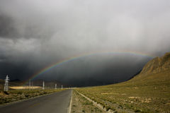 Дорога к радуге Стоковое фото RF