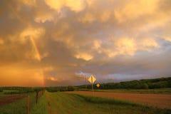 Дорога к радуге Стоковая Фотография RF