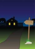 дорога к селу иллюстрация вектора