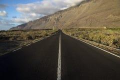 Дорога к стене горы Стоковые Фото