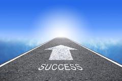 Дорога к успеху стоковые изображения