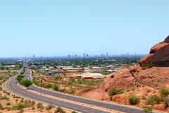 Дорога к Фениксу городскому, AZ Стоковые Фотографии RF