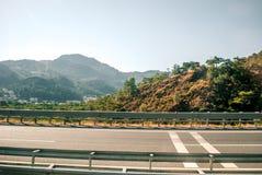 Дорога к Эгейскому морю Стоковые Изображения