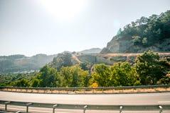 Дорога к Эгейскому морю Стоковое Фото