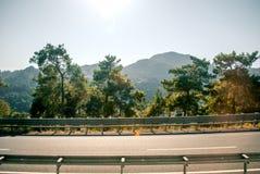 Дорога к Эгейскому морю Стоковая Фотография