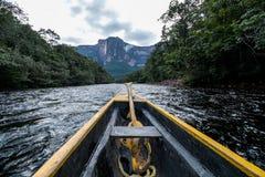 Дорога к Angel Falls, Амазонке, Венесуэле Стоковое фото RF