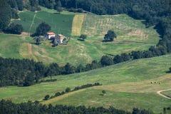 Дорога к della Cisa Passo, от Тосканы к Emilia Стоковое Изображение