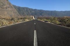 Дорога к El Golfo Стоковая Фотография