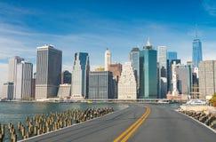 Дорога к New York City Праздник и концепция перемещения Стоковые Фото