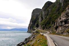 Дорога к Nordkapp Стоковые Изображения