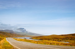 Дорога к Quiraing Стоковые Изображения RF