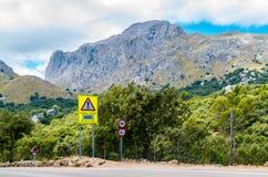 Дорога к Sa Calobra в Serra de Tramuntana - горах в Mallorc Стоковое Изображение RF